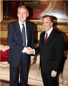 Canciller mexicano - ministro de Asuntos Exteriores británico