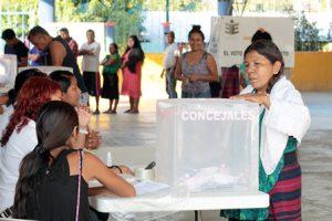 En elecciones en Oaxaca