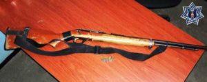Rifle marca Marín, modelo 06, matrícula 05234226 y 10 cartuchos útiles calibre 22.