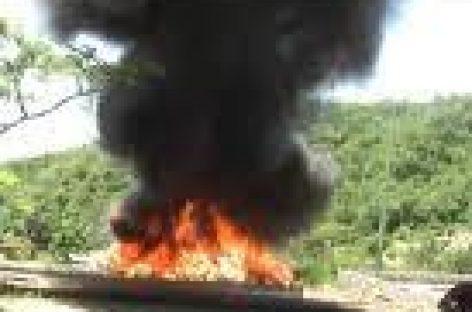 Incinera PGR drogas en Oaxaca