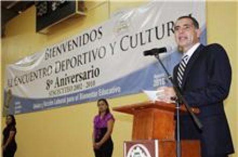 Celebra Sindicato del CECyTE octavo aniversario con Ulises y Gabino