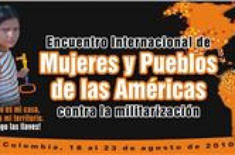 Realizan Encuentro Internacional de Mujeres y Pueblos contra la Militarización