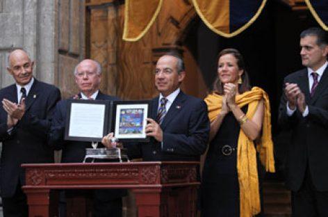 <em><strong>Conmemora su centenario la UNAM, Calderón preside la ceremonia</strong></em>