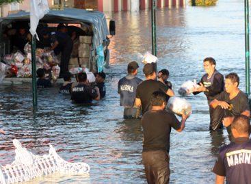 La Armada auxilia a la población con el Plan Marina, ante la contingencia por lluvias