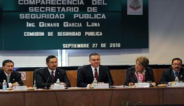 Cámara de Diputados Secretario de Seguridad Genaro García Luna
