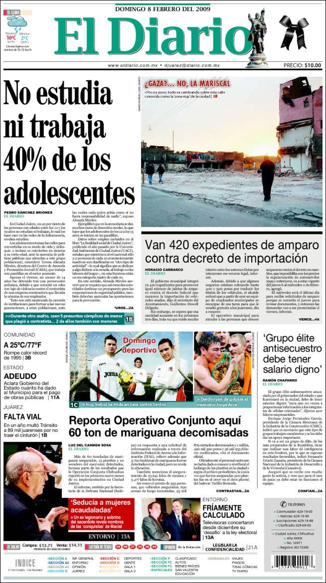 Atacan a dos fotógrafos del Diario de Juárez, uno muere