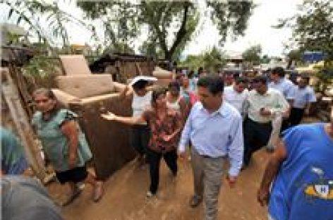 Evalúan daños por lluvias en la capital oaxaqueña