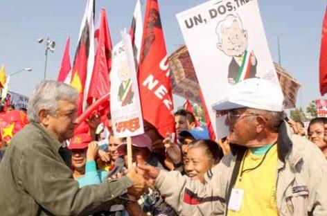 López Obrador pedirá licencia al PRD para hacer campaña en el Estado de México