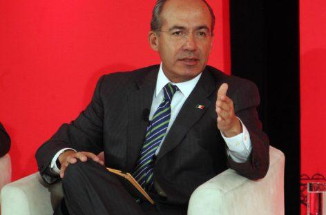 Reitera Calderón que López Obrador es un peligro para México