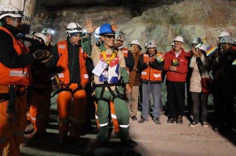 Rescataron en la madrugada al minero boliviano