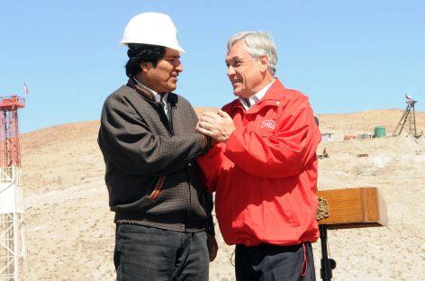 Evo Morales en Chile presencia rescate de mineros al lado de Piñera