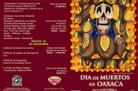 Celebrarán con diversas actividades Día de Muertos en Oaxaca