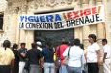 Protestan habitantes de Pueblo Nuevo, se oponen a ampliación de drenaje