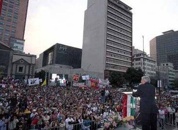 <strong>Con insurgencia cívica y despertar ciudadano se establecerá una auténtica y verdadera democracia: AMLO</strong>