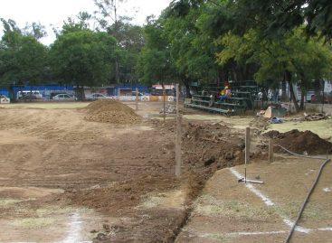 <strong>Destruyen parque de beisbol universitario por pista de hielo </strong>