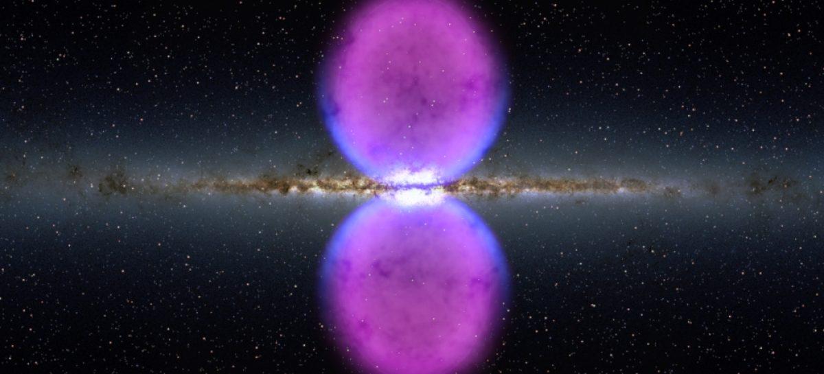 Descubren burbujas gigantes flotando en el centro de la Vía Láctea