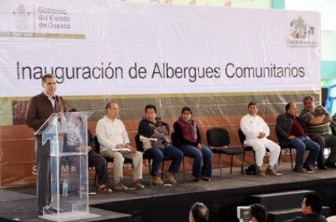 Inauguran albergues comunitarios en Tlahuitoltepec; atenderán a mil 500 personas