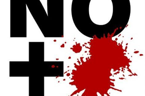 """Caricaturistas llaman campaña contra la violencia en el país: """"No más sangre; Basta de Sangre""""."""