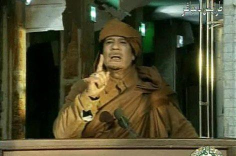 """<strong>Ordena Kadhafy """"aplastar"""" protestas en Libia</strong>"""