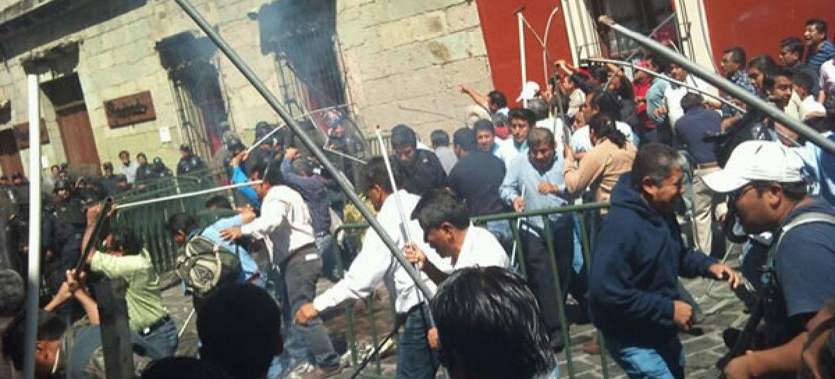 Provocación la violencia del martes 15; en comunicado se deslinda la 22