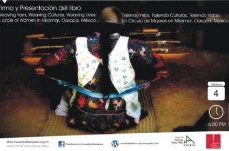 Presentarán libro de imágenes en español e inglés de tejedoras de Miramar, Oaxaca
