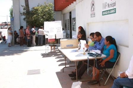 Continúa la jornada electoral en Oaxaca de Juárez