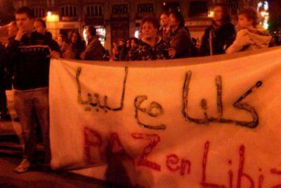 Libia Españoles se oponen a la guerra