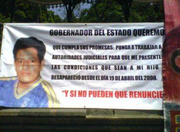 Marcha por presentación de tres desaparecidos y rechazo a reforma laboral