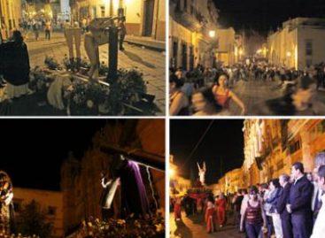 Cunde pánico por rumor de balacera, en la procesión del silencio en Zacatecas