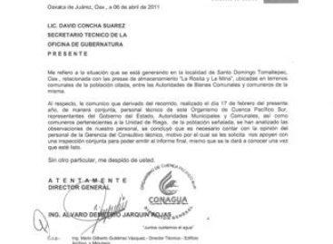 Buscan solución a conflicto por presas de almacenamiento de Santo Domingo Tomaltepec