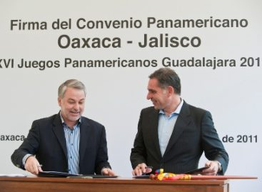 Firman Jalisco y Oaxaca convenio en materia deportiva, previo a Juegos Panamericanos 2011