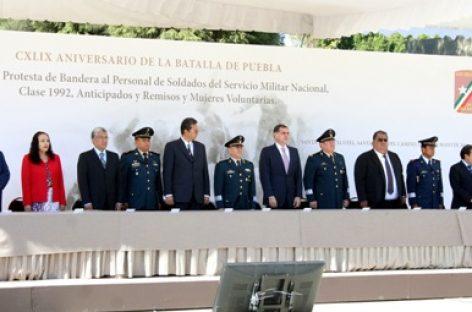 Conmemoran 149 aniversario de la Batalla de Puebla; toman protesta a soldados del SMN