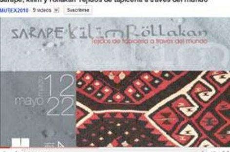 """Última semana de la exposición """"Sarape, kilim y rollakan: tejidos de tapicería a través del mundo"""""""