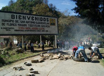 Ignora gobierno del estado conflicto post electoral en Eloxochitlán de Flores Magón