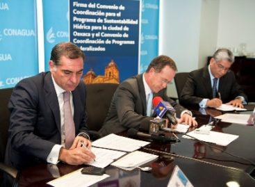 Firman Conagua y Gobierno de Oaxaca convenios a favor de la sustentabilidad hídrica de la entidad
