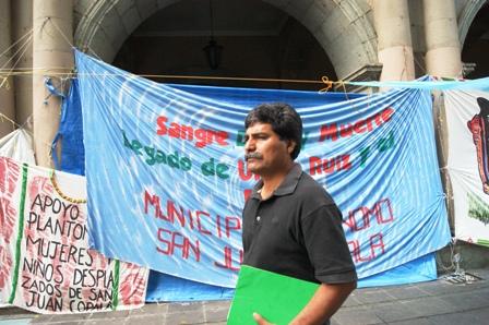 Juan López Maldonado dirigente de la Organización de los Pueblos Indígenas Zapotecas (OPIZ).