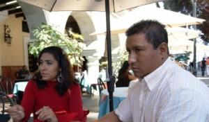 Concejales priistas de la Villa de Zaachila Magali García y Fortino Castellanos Nava