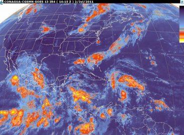 Hoy lluvias de fuertes a intensas y tormentas eléctricas