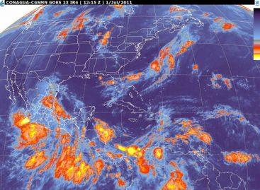 Nublados densos y lluvias torrenciales en gran parte del país