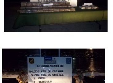 Asegura Ejército Mexicano más de 100 kilogramos de cocaína en Sonora y Quintana Roo