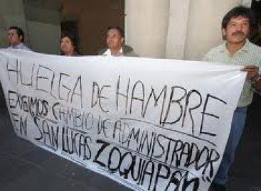 <strong>Exige Jaltepetongo con huelga de hambre solución a conflicto limítrofe</strong>