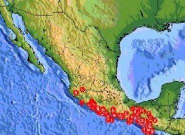 Registran este martes cinco sismos de mediana intensidad en tres estados