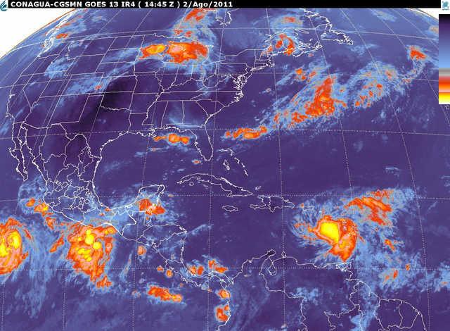 Hoy Potencial De Lluvias Fuertes A Intensas En El Occidente Oriente Sur Y Sureste Del Pa 205 S