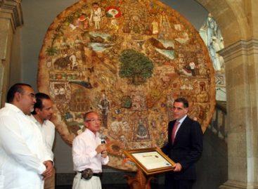 Trasladan la Tlayuda más grande del mundo de Tapanatepec a Palacio de gobierno