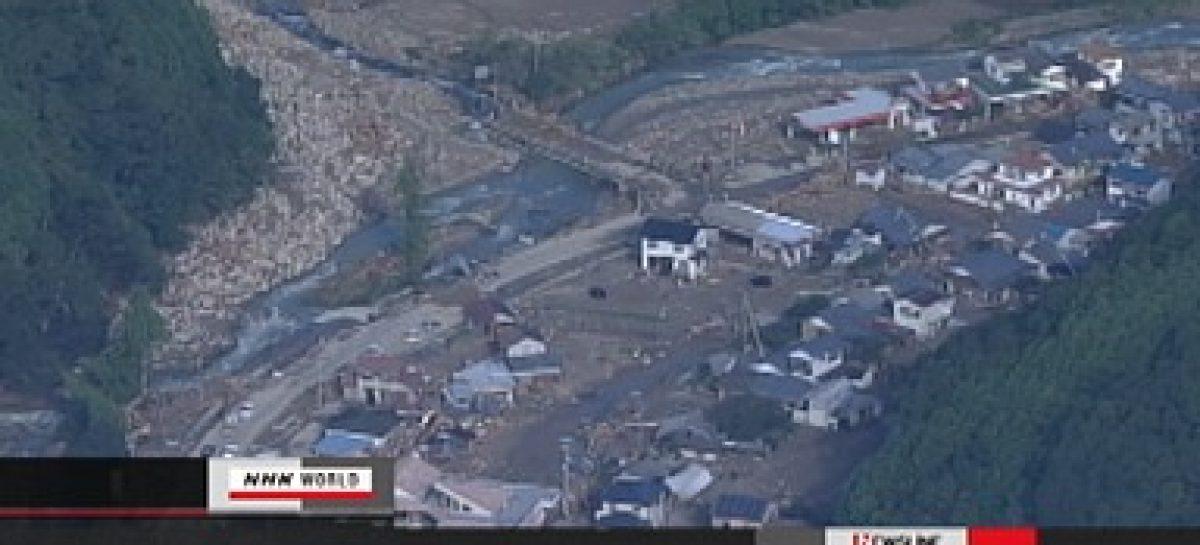 Dejan tormenta Talas en Japón 39 muertos, 55 desaparecidos y 16 mil casas inundadas