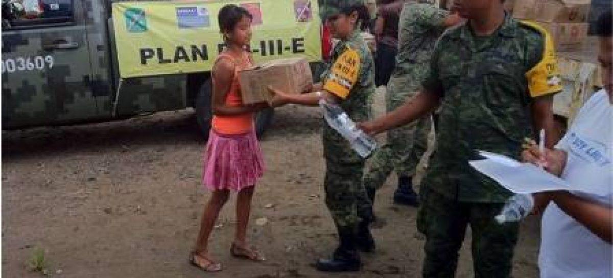 Mantienen militares aplicación del Plan DN-III-E en los estados de Tabasco, Jalisco y Colima