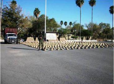 Ejército asegura más de dos toneladas de mariguana, en  Miguel Alemán, Tamaulipas