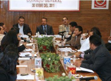 Aprueba Consejo del IEEPCO anteproyecto de egresos 2012; asciende a más de 212.5 mdp