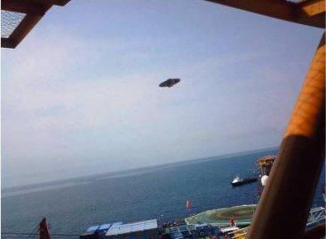 "Reporta lector Ovni en la plataforma ""Akal C"" en Ciudad del Carmen Campeche, sonda del Golfo de México"