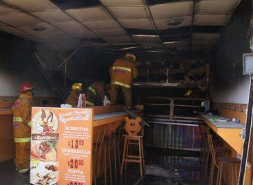 Deja solo daños materiales fuga de gas en negocio del centro de Oaxaca